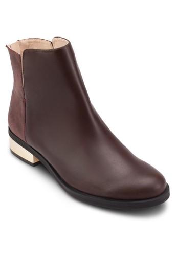 金飾粗跟踝靴esprit女裝, 女鞋, 靴子
