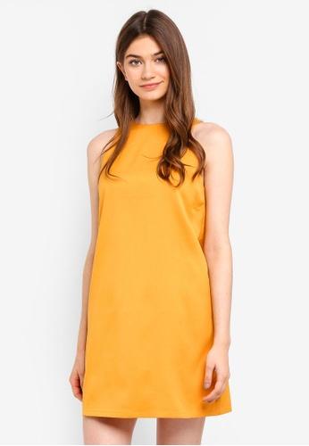 Something Borrowed yellow Sleeveless Shift Dress 29D26AA6CDB177GS_1