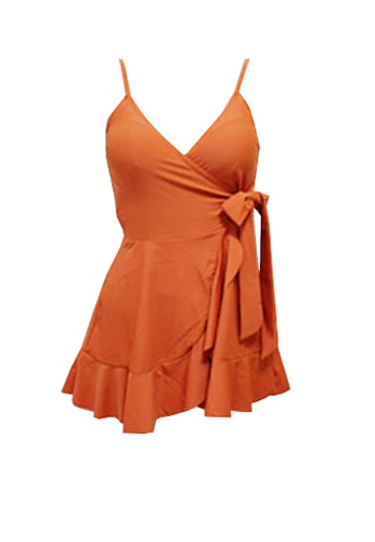 Twenty Eight Shoes orange VANSA  One-Piece Swimsuit  VCW-Sw10 BF462USB7A3343GS_1