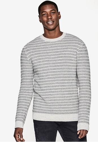 ESPRIT white Striped Long Sleeve Jumper ES374AA0SAZ2MY_1