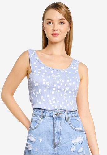Cotton On blue Little Sister Pointelle Tank 3D285AA2DCBAF6GS_1