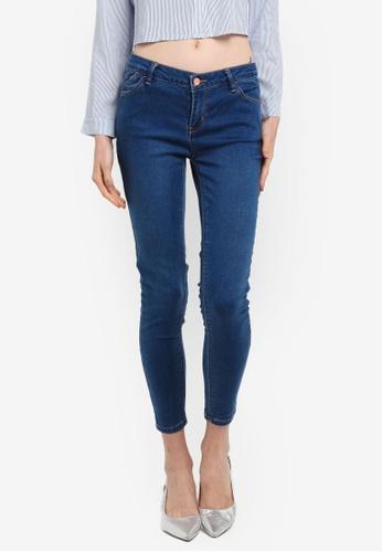 Penshoppe blue Mid Waist Jeans In Medium Wash 82ACDAA57A4573GS_1