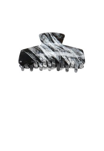 Glamorousky black Fashion High-end Grey Striped Geometric Hair Claw BD309AC3409F98GS_1