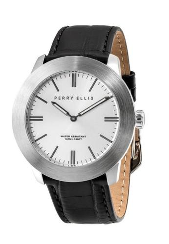 PERRY ELLIS black Perry Ellis Slim Line Men 46mm Quartz Watch 03012-01 E7150AC3EFAD00GS_1