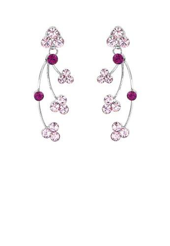 Glamorousky purple Elegant Earrings with Purple Austrian Element Crystal 0040EAC12CD68BGS_1