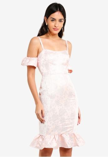 b406229e6cac MISSGUIDED pink Frill Peplum Midi Dress With Lace 47765AAAFDBB8BGS_1