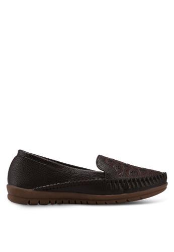 Alfio Raldo brown Pleather Loafers 2C597SH892F337GS_1