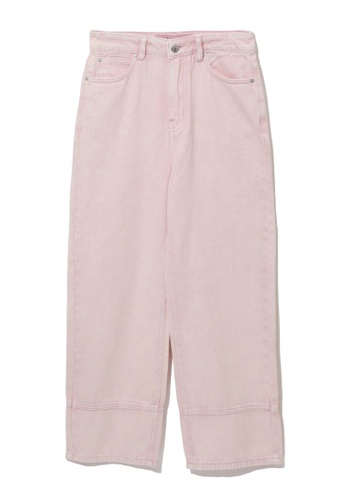 b+ab pink Panelled culotte jeans 7AADAAAC907C3CGS_1
