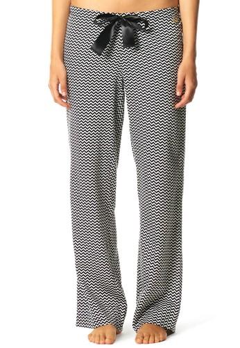 雪佛龍條紋緞帶睡esprit hk store褲, 服飾, 服飾
