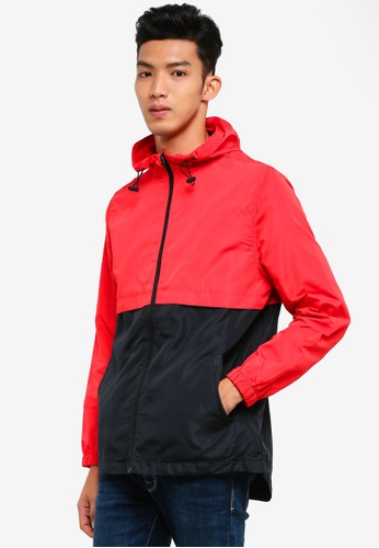 Cotton On black and red Retro Spray Zip Thru Jacket AD4A5AA0AB7DD4GS_1