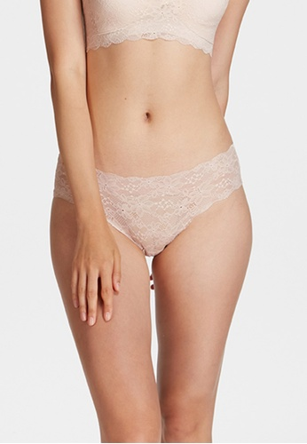 6IXTY8IGHT pink PLUM SOLID, Clean Cut Lace Hipster Panty PT10428 DF06CUS5568B5BGS_1