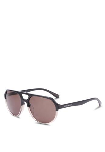 Emporio Armani brown Brown EA4111F Sunglasses EM212GL0SEXUMY_1