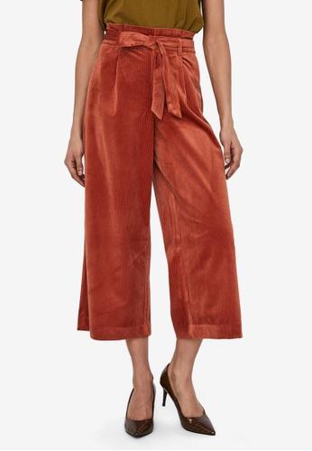 Vero Moda orange Londyn Paperbag Corduroy Culottes 8F69CAA236C1C6GS_1