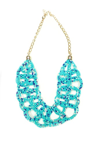 ACEXSPADE blue Pearlyn Necklace – Blue Mix CC2D3AC5705688GS_1