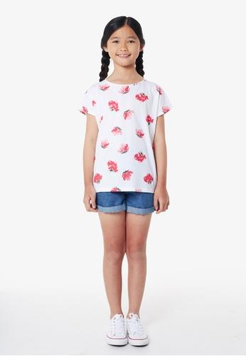 Gen Woo multi Floral Printed T-shirt by Gen Woo 7315DKAD6A99BAGS_1
