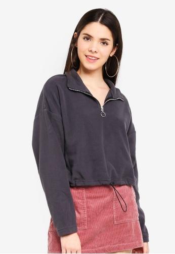 Factorie black Crop Qtr Zip Polar Fleece 9880EAA472CEAAGS_1