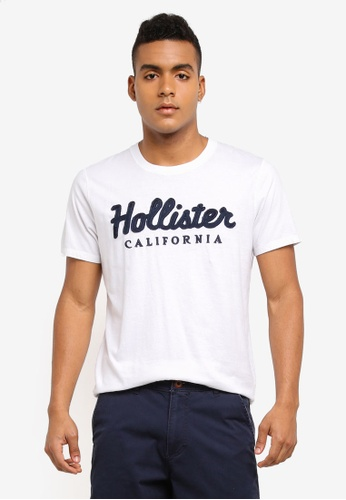 Hollister white International Blues Tech T-Shirt 75E93AA7E1BE62GS_1