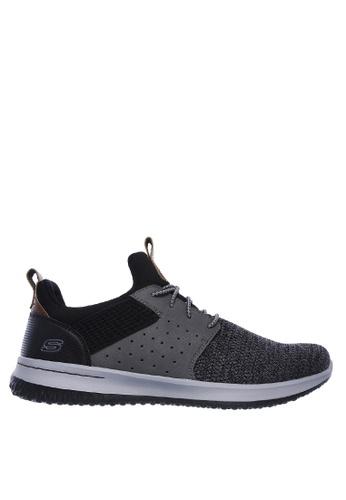 Skechers black Delson - Camben Sneakers 60284SH45940FDGS_1