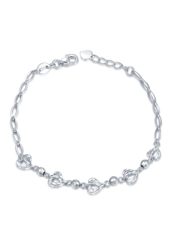 MaBelle silver 14K/585 White Color Gold Gold Heart Bracelet 2741CAC70AB7F2GS_1