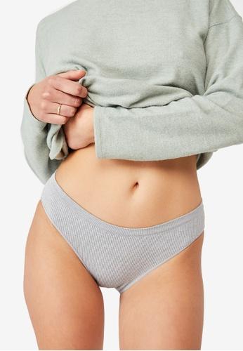 Cotton On Body grey Seamfree Rib Bikini Briefs 44301USDDA73BCGS_1