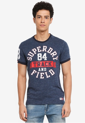 Superdry blue Trackster Ringer Tee A7814AA3A750DBGS_1