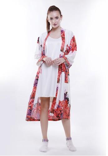 JOYFULIE white and red Jessica Kimono Set 32A32AA5B1EF1EGS_1