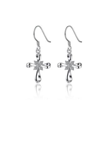 Glamorousky white Fashion Elegant Bow Earrings with Austrian Element Crystal 9EAC2ACDBCDBA2GS_1