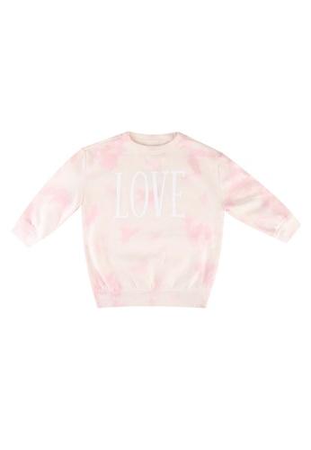 GAP pink Tie Dye Love Sweatshirt 024FAKADF3B98EGS_1