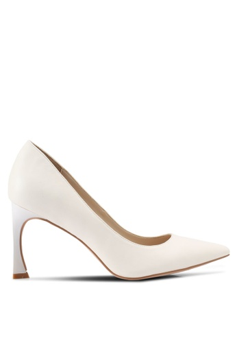 ZALORA white Covered Pumps with Feature Heel 06383SHBCE3810GS_1
