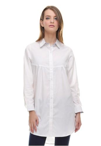 LGS white LGS - Regular Fit - Kemeja Wanita - Dress - Polos - Putih LG695AA0U9NWID_1
