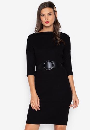 Chloe Edit black Midi Knitted Dress CH672AA0JS5FPH_1