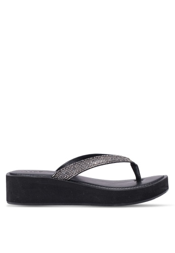 ALDO 黑色 Yberani Beach Sandals 693B7SHEC5B7E6GS_1