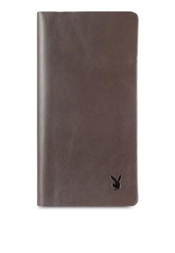 Playboy grey Playboy Bi-Fold Full Leather Long Wallet PL371AC0RX5IMY_1