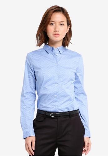 Mango blue Printed Cotton Shirt MA193AA0T1KMMY_1