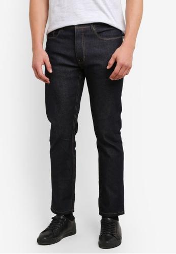 Burton Menswear London navy Raw Indigo Wash Blake Slim Fit Jeans BU964AA0S5MFMY_1