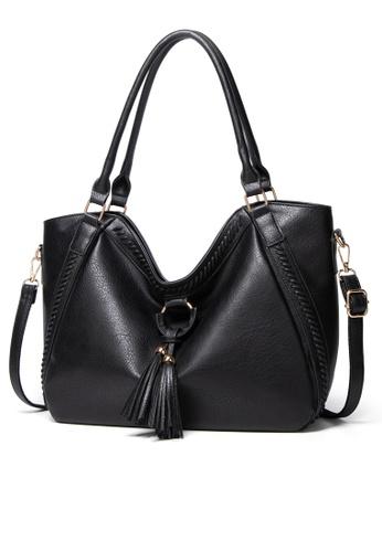 Halo black Vintage Three Way Crossbody Bag 2EBCFAC3C98999GS_1