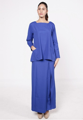 Tatti Kurung Royal Blue from HESHDITY in Blue