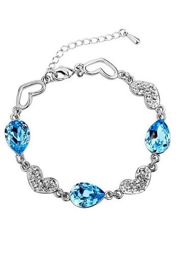 Vivere Rosse blue Ocean Love Cubic Zirconia Bracelet VI014AC43EBKMY_1