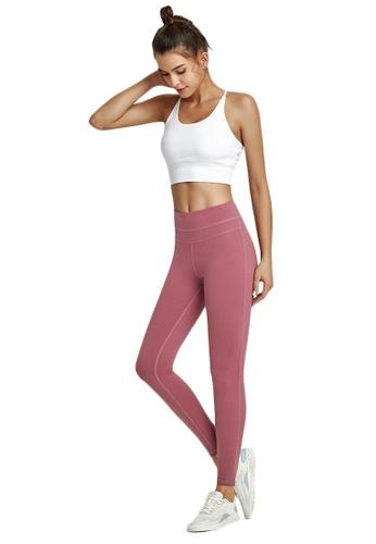 B-Code 粉紅色 ZWG1103a-女士時尚瑜珈運動健身褲-粉紅色 F7C52AAC1073BAGS_1