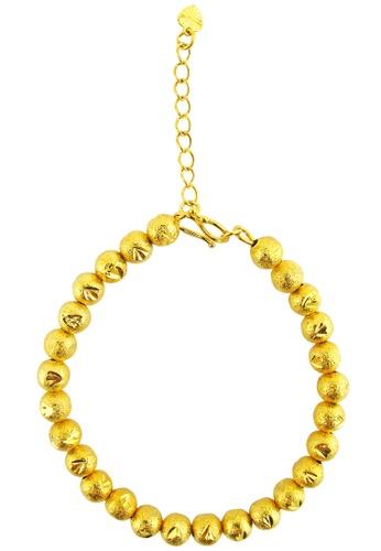 YOUNIQ gold YOUNIQ Premium Bubbling 24K Plated Bracelet (Gold) YO999AC37SBIMY_1