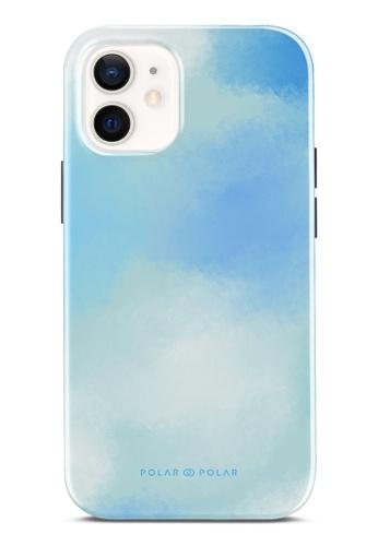Polar Polar blue Clouds In Spring Dual-Layer Tough Case Glossy For iPhone 12 mini 3D307AC3F664E2GS_1