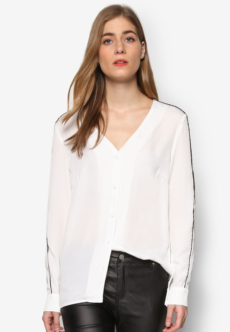 Collection Binding Detail Blouse