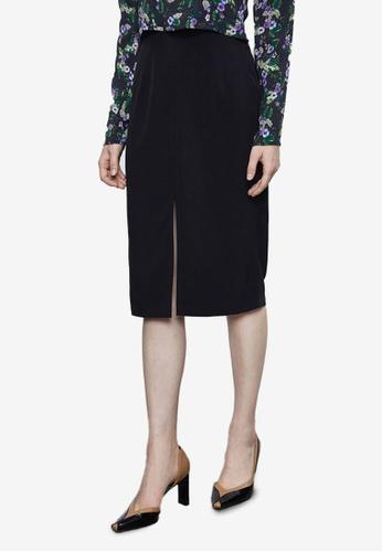 URBAN REVIVO black Casual Skirt 25C67AA60BF14DGS_1