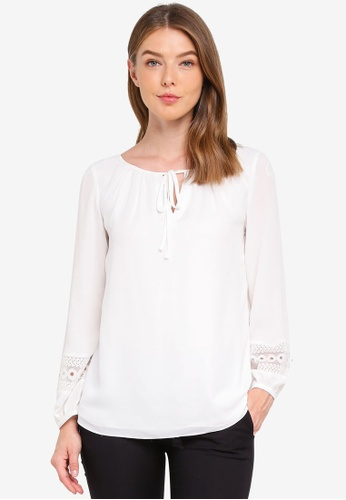 Wallis white Ivory Lace Trim Top A8019AA9183D13GS_1