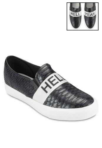 Hell Yeah 標語鱷魚紋懶人鞋、 女鞋、 鞋MISSGUIDEDHellYeah標語鱷魚紋懶人鞋最新折價