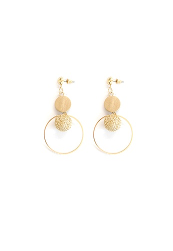 FAWNXFERN white and gold Haliwell Wood and Weave Drop Earrings 3DEF8AC14B8C98GS_1