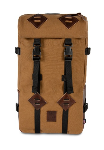 Topo Designs brown Topo Designs Klettersack Heritage Canvas Backpack E875EAC7B34ED6GS_1