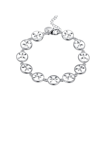 Glamorousky silver Simple and Fashion Pisces Round Bracelet 9213DAC8FAEB6CGS_1