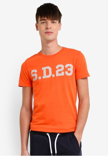 Superdry orange Solo Sport Short Sleeve Tee SU137AA0S4DFMY_1