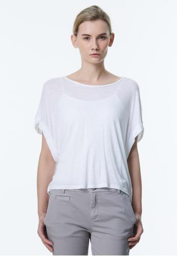 United Colors of Benetton white Round Neck T-shirt 858CBAA66B7F50GS_1